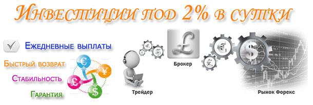 инвестиции под 2 процента