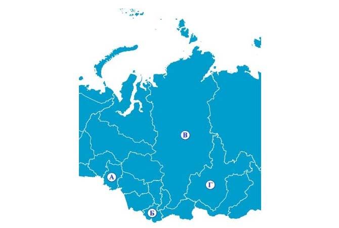Карта 4 регионов