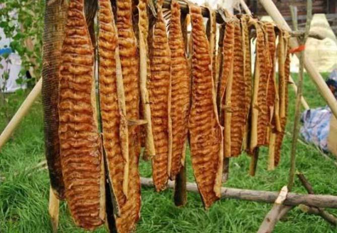 Сушено-вяленое мясо рыб - Юкола