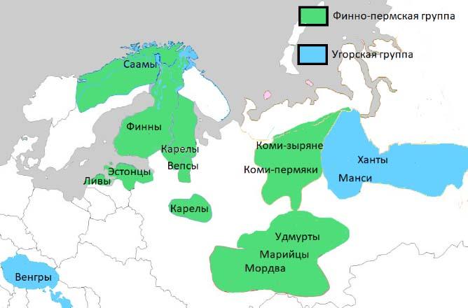 проживание финно-угорских народов