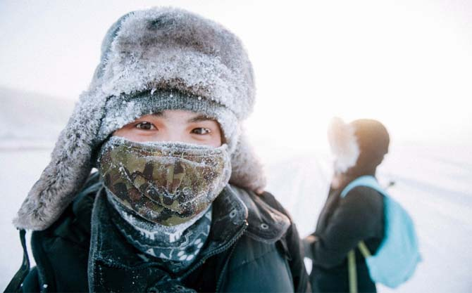 ребенок в мороз