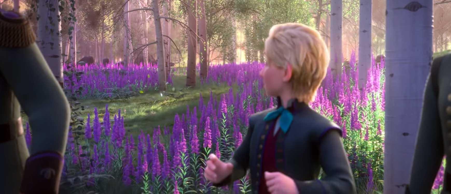 сказочный лес из мультика Холодное сердце