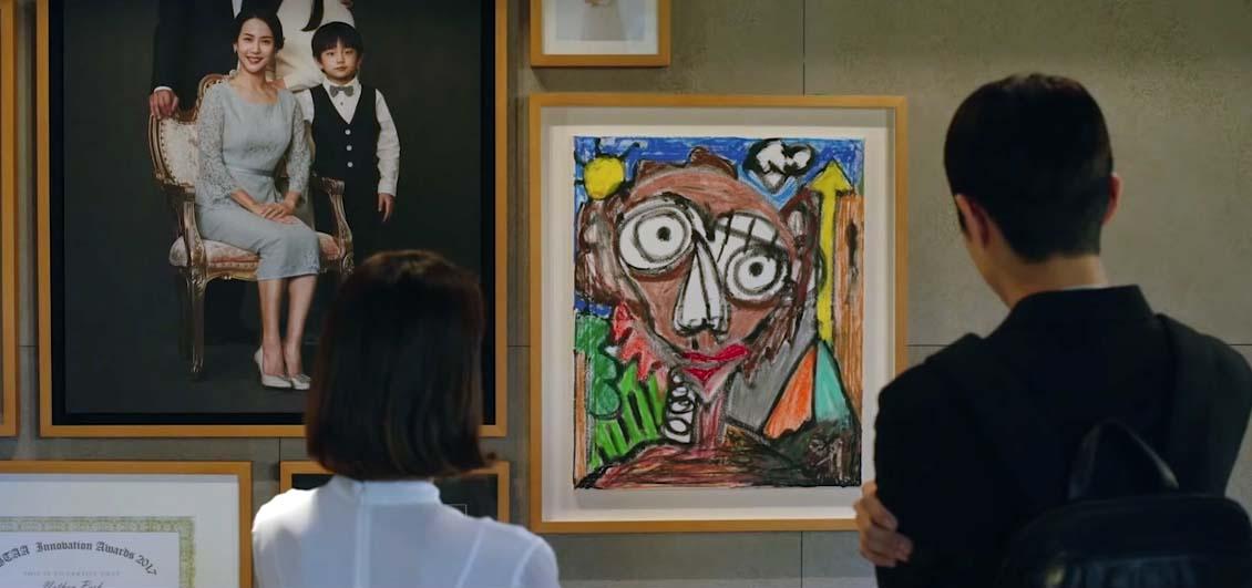 Картина из фильма Паразиты