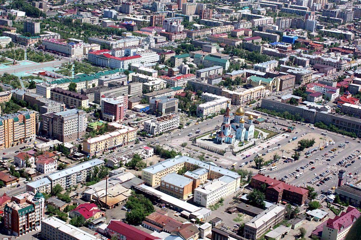 город Чита с высоты