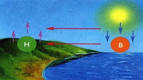 Формирование ветра Бриз